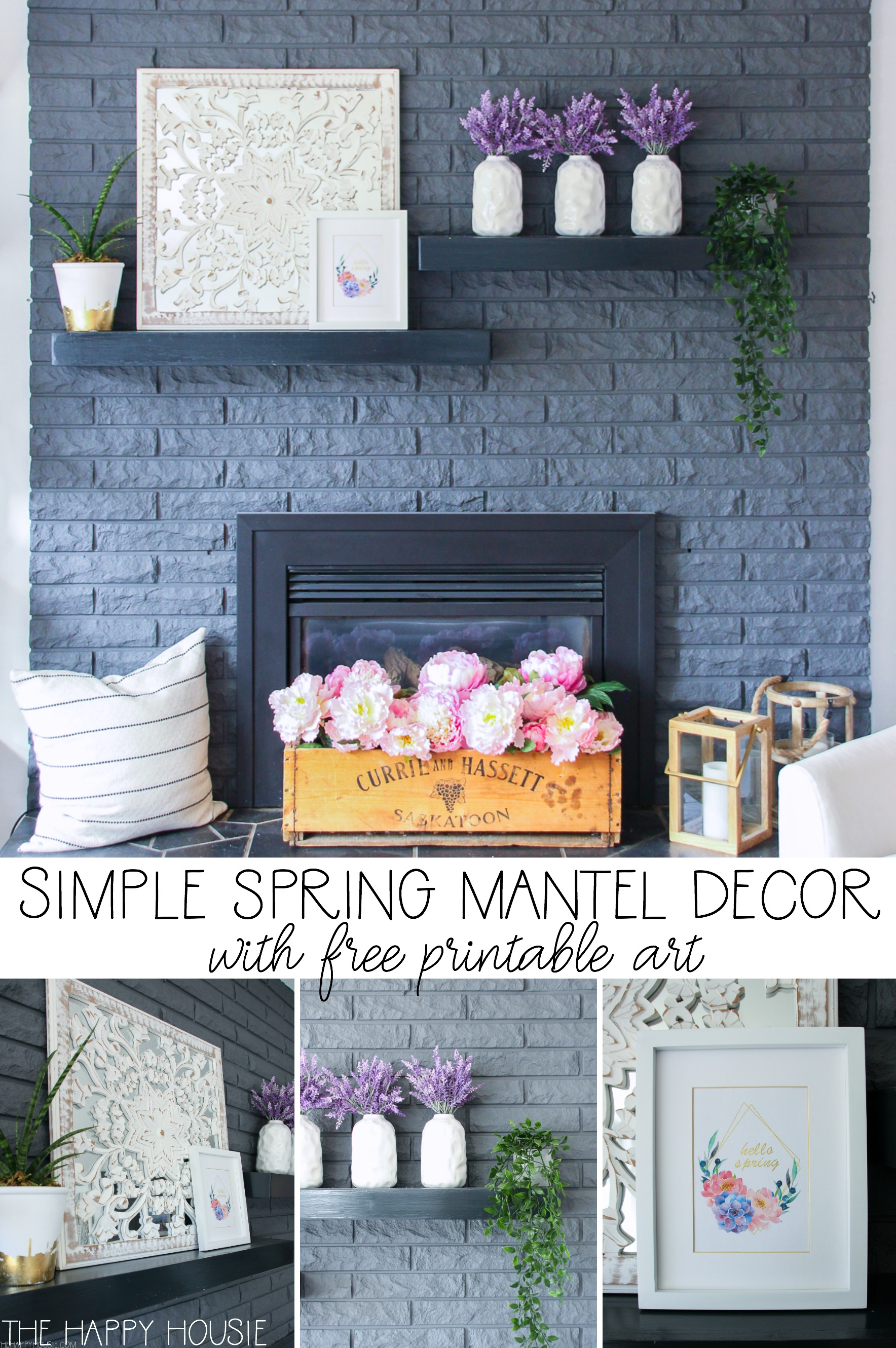 Simple Spring Mantel Decor The Happy Housie