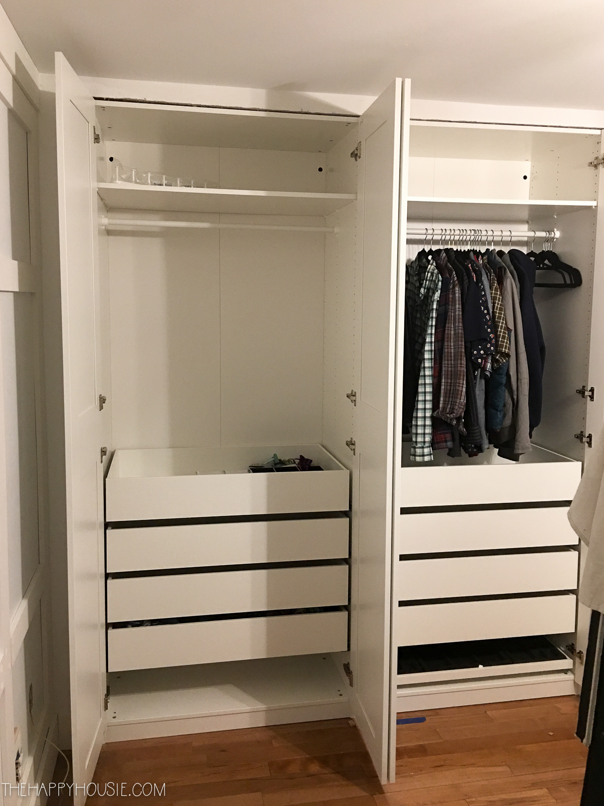 Ikea Wardrobe Tidy Diy An Organized Closet Big Or Small With The Ikea Pax