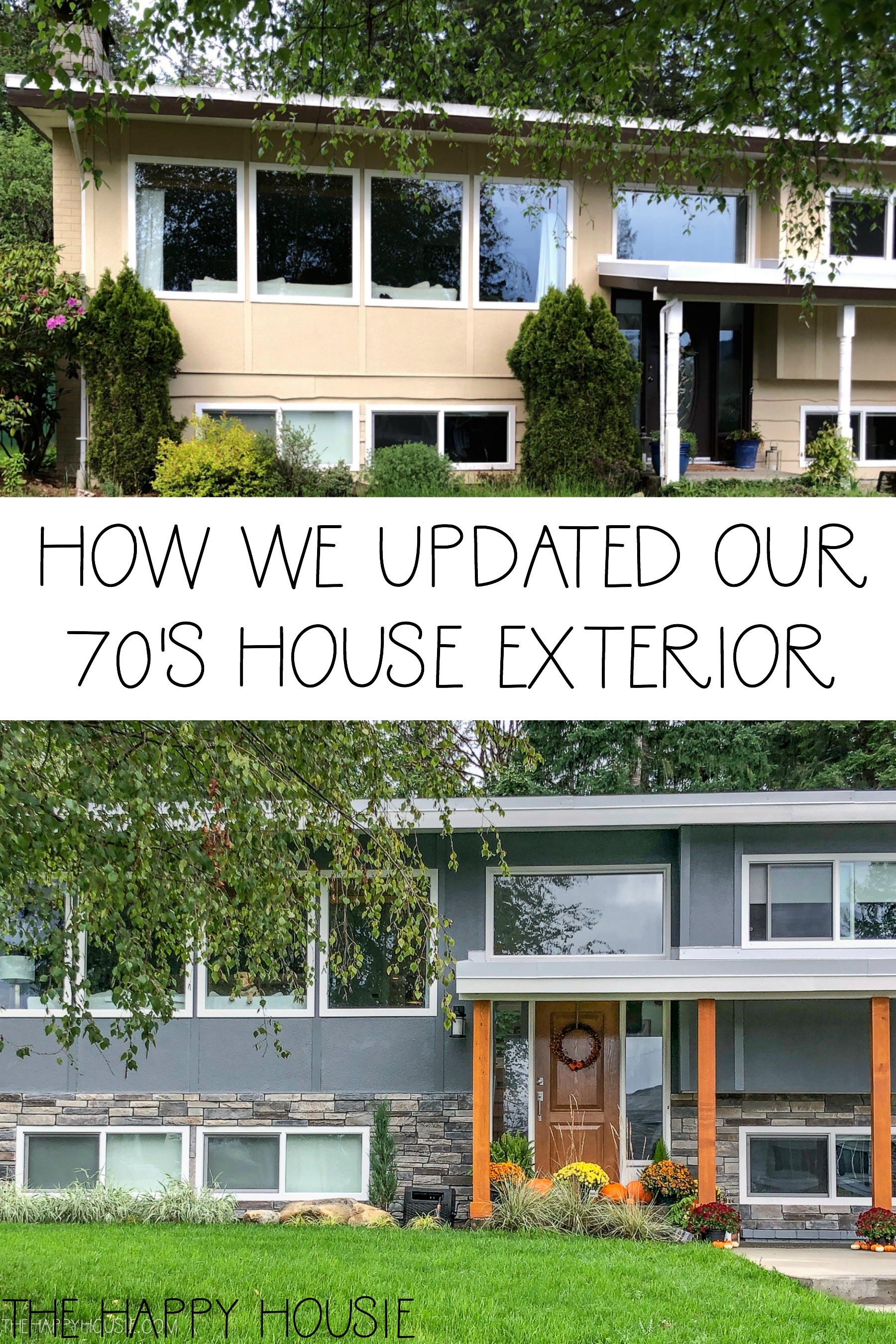 Front Yard Exterior Makeover Reveal Before After The Happy Housie