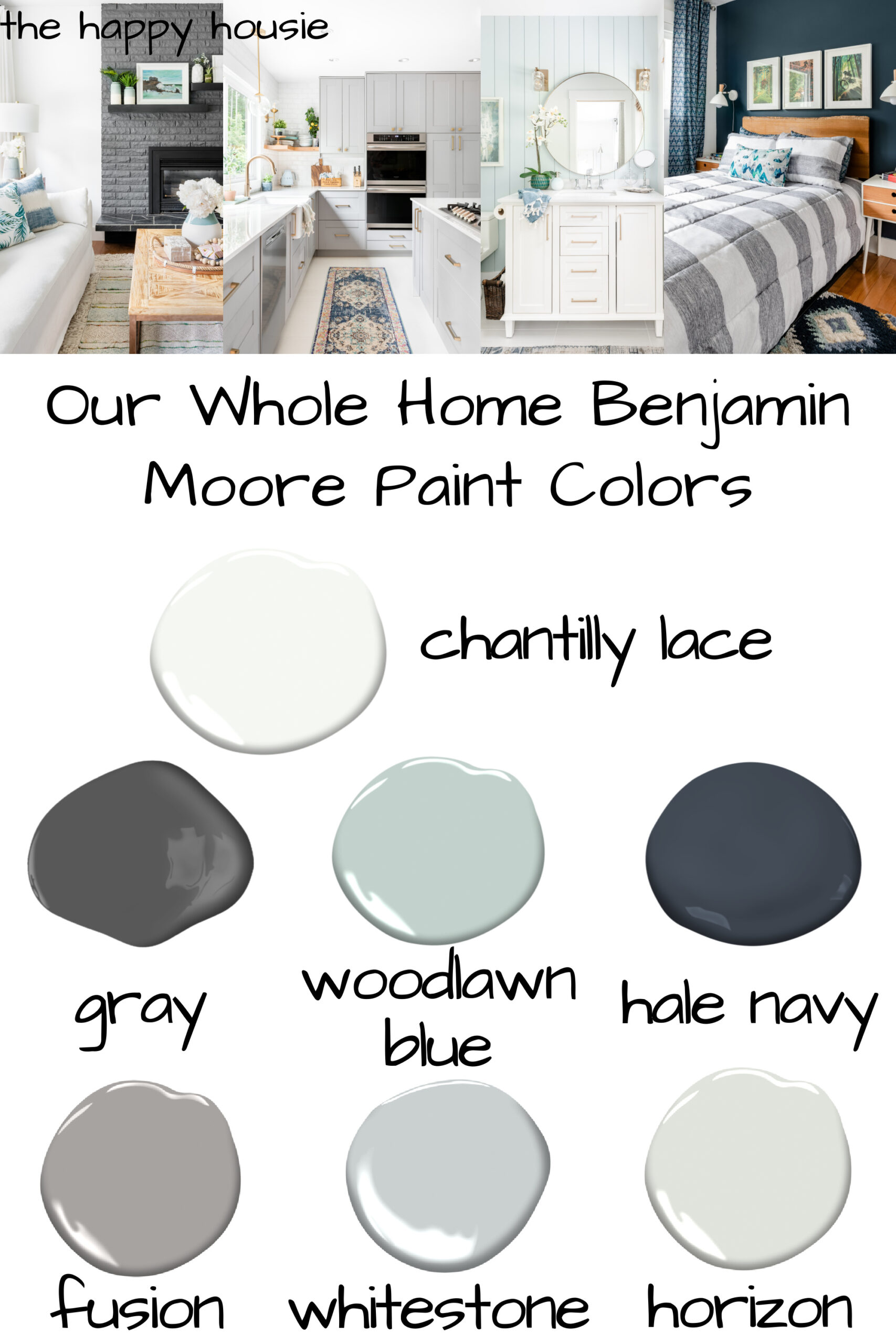 Whole Home Benjamin Moore Paint Color Scheme The Happy Housie