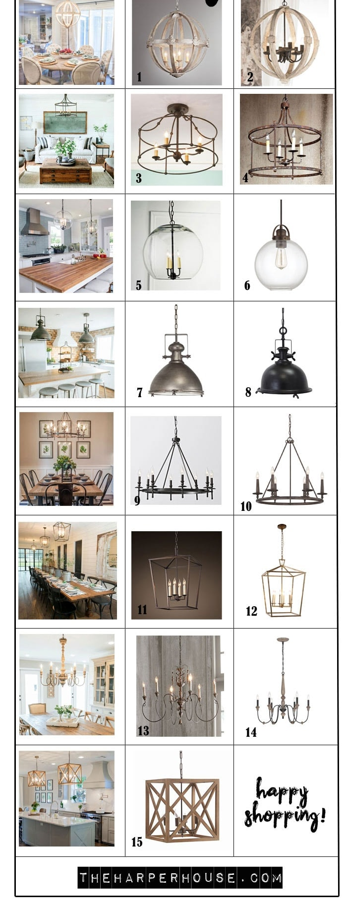 Chandelier Height 10 Foot Ceiling Favorite Light Fixtures For Fixer Upper Style The Harper House