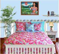 Girls Twin Size Surf Bedding - The Hawaiian Home