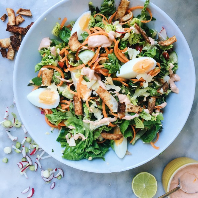 Chopped Salad with Chipotle Mayo 3