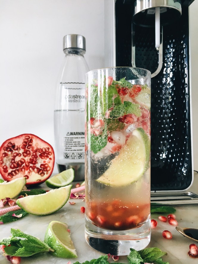 POMEGRANATE, MINT AND ROSE SPRITZ 7