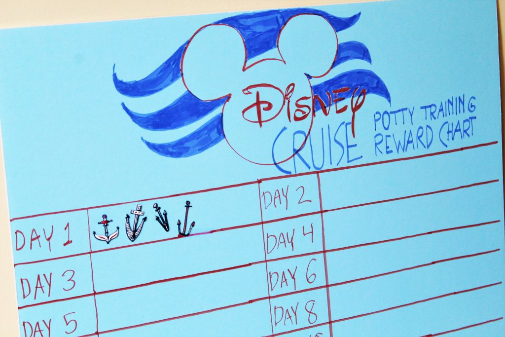 Countdown to Disney Cruise! Disney Potty Training Reward Chart - The - potty training chart