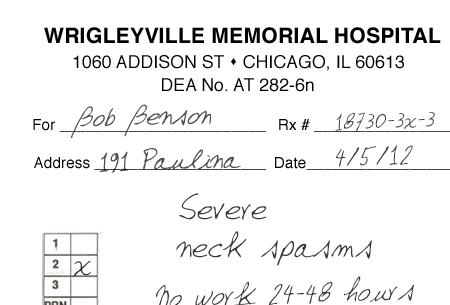 Here\u0027s a fake doctor note to get you out of work for the Cubs opener