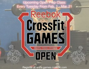 Open Prep classes now available... Ask a coach for more info