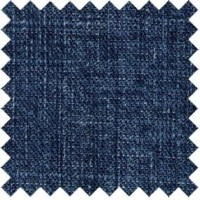 Hemp/organic cotton indigo plain weave
