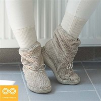 ESMERALDA GLUE-FREE WOMEN'S HEMP KNIT BOOTS