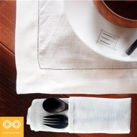 HEMSTITCHED ORGANIC LINEN PLACEMAT
