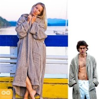 ORGANIC IRISH LINEN TERRY BATHROBE