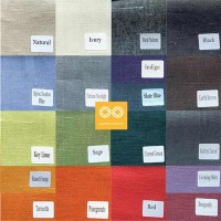 SWATCH BOOK 6: WOVEN HEMP FABRIC IN 19 COLORS (2 BOOKLETS) (INTERIOR DESIGN)