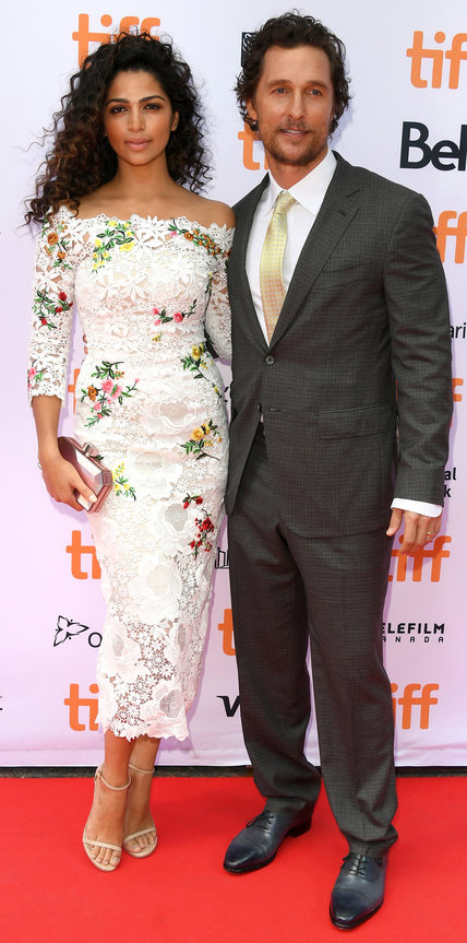 Camilla Alves in Monique Lhuillier & Matthew McConaughey- 2016 Toronto International Film Festival Best Dressed by The He Said She Said Experience