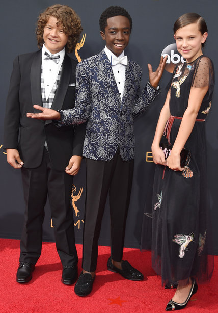 Gaten Mattazarro and Caleb McLaughlin- 2016 Emmy Awards Best Dressed by The He Said She Said Experience