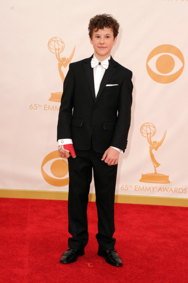 The He Said She Said Experience- Fashion Desk- 2013 Emmys- Nolan Gould