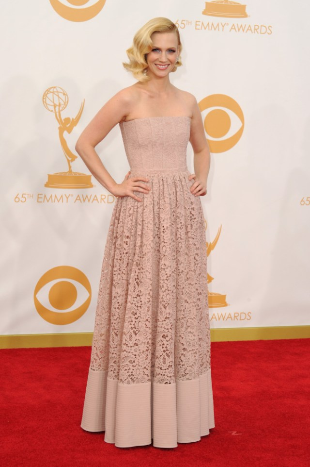 The He Said She Said Experience- Fashion Desk- 2013 Emmys- January Jones in Givenchy