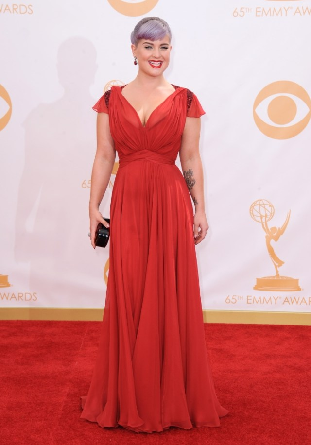 The He Said She Said Experience- Fashion Desk- 2013 Emmys- Kelly Osbourne in Jenny Packham
