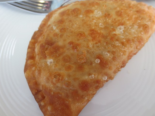 My delicious empanada. I really meant to get a good picture of the filling, but it was so hard to stop eating it :)