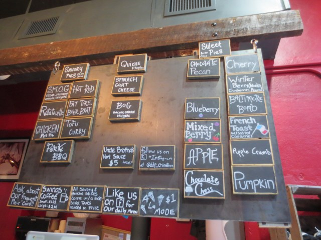 The bountiful menu ( which changes daily)