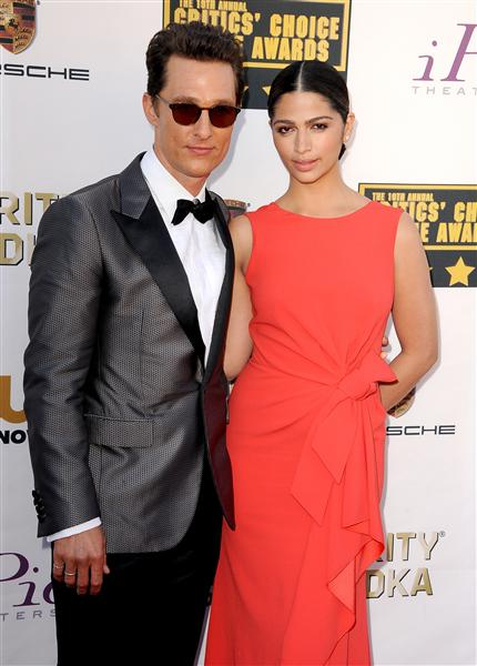 The He Said She Said Experience- 2014 Critics' Choice Movie Awards Best Dressed- Camila Alves McConaughey in Paule Ka and Matthew McConaughey