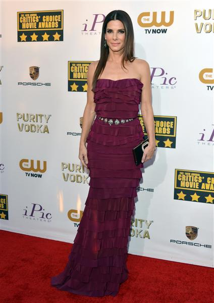 The He Said She Said Experience- 2014 Critics' Choice Movie Awards Best Dressed- Sandra Bullock in Lanvin