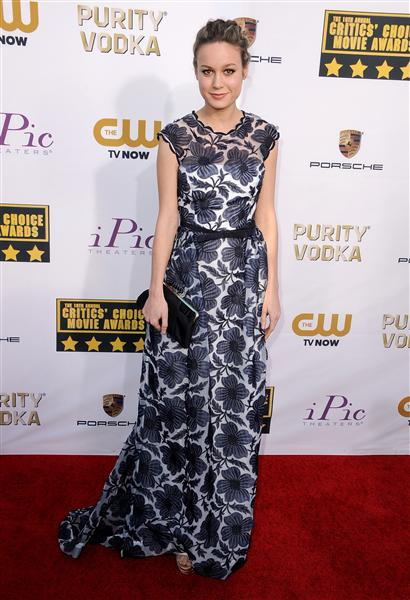 The He Said She Said Experience- 2014 Critics' Choice Movie Awards Best Dressed- Brie Larson in Escada