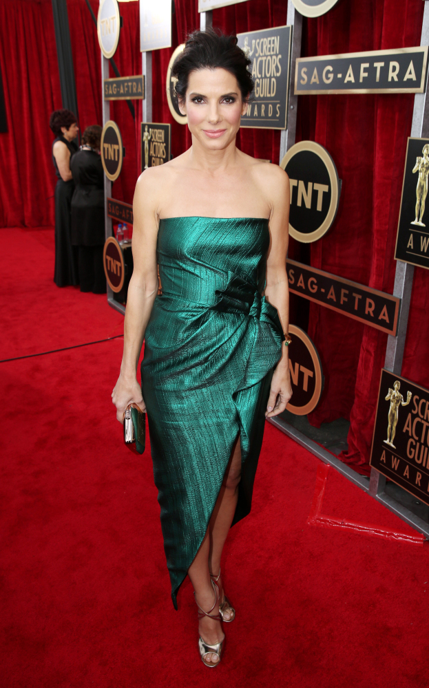 The He Said She Said Experience- 2014 SAG Awards Best Dressed- Sandra Bullock in Lanvin