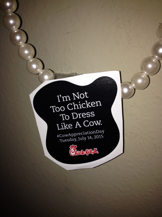 Kari's Quick Necklace for Cow Appreciation Day by The He She Said Experience