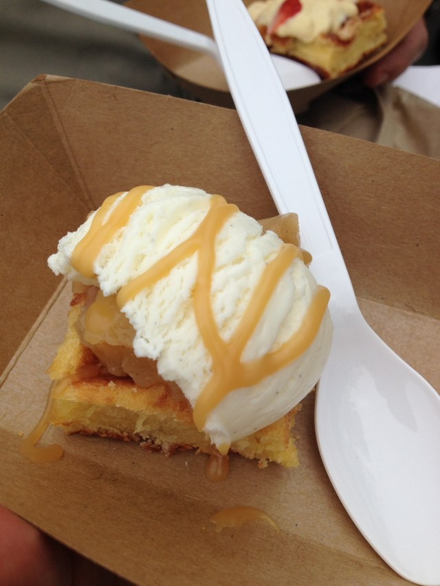 Apple Pie a la Mode Waffle from Mr. MacFreeze- Best Bites at 5th Annual Taste of Vienna by The He Said She Said Experience