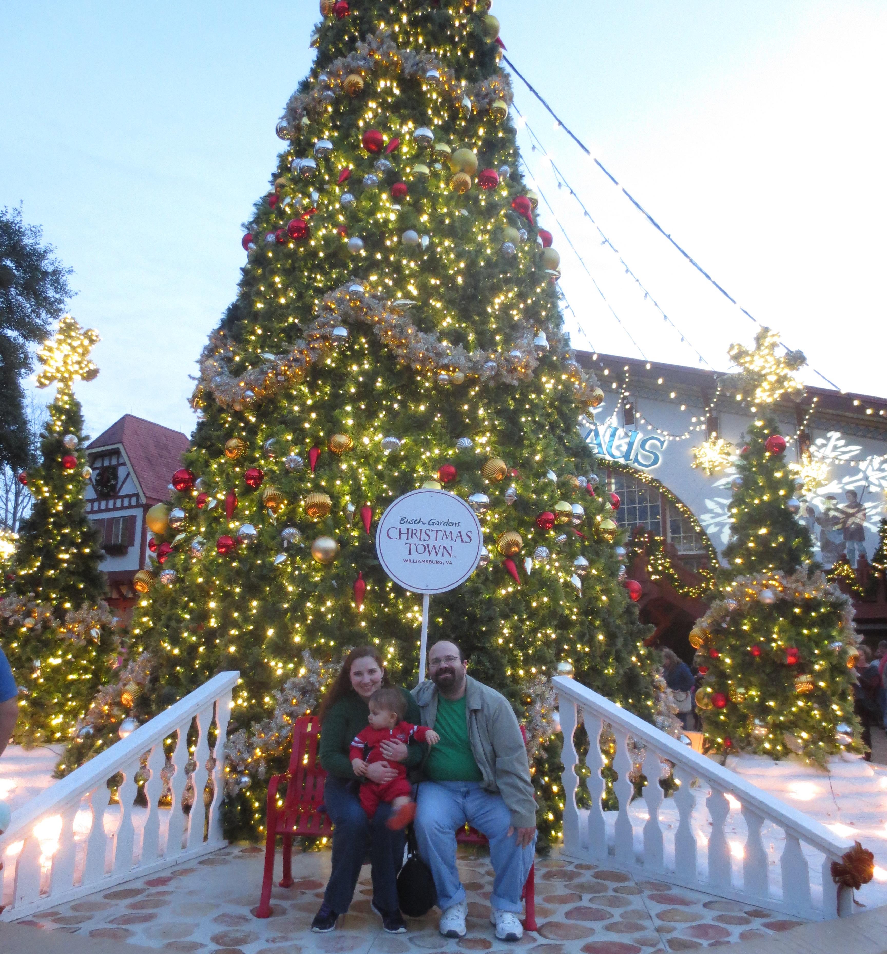 christmas town at busch gardens review by the he said she said experience