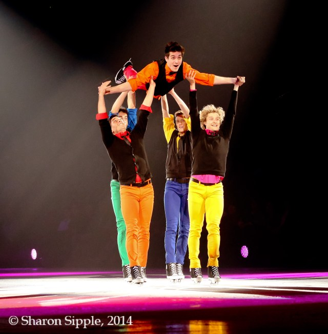 The He Said She Said Experience- Guys Group Number credit: Sharon Stipple/ Stars on Ice