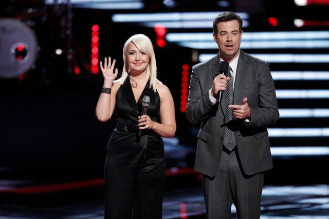 Meghan Linsey with Carson Daly