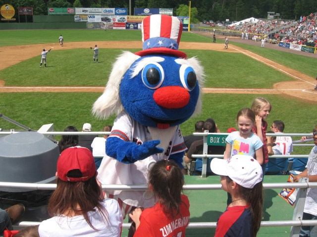Check out Potomac Nationals mascot Uncle Slam!