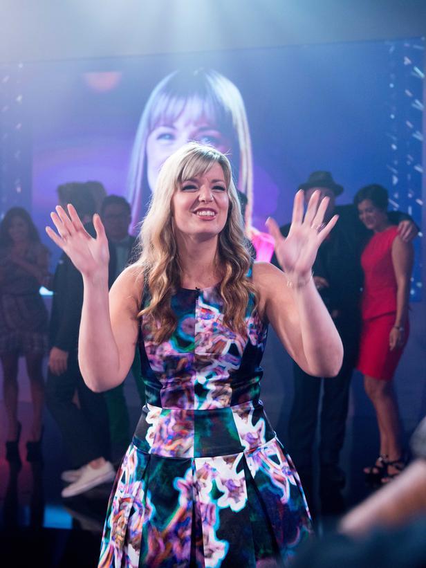 Yay, Damaris!  Girl, where did you get that fabulous dress?