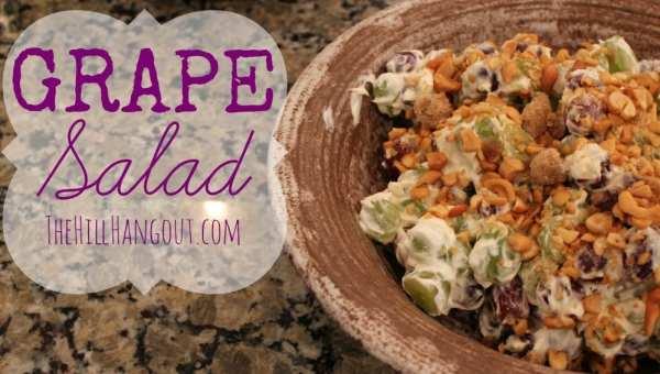 Grape Salad1 Grape Salad with Cashews