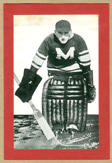 Alex Connell holds an NHL record dating back to the 1920s, and was working hard on that feat 7 February 1928.  Seen here as a Montreal Maroon, he is best known as an Ottawa Senator.