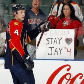 Bouwmeester was a fan favorite in Florida when he started his career in 2002-03