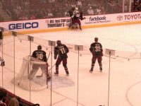 Hanzal, Bryzgalov and Aucoin Stand Guard Against Dallas..Photo by Sharon Murphy