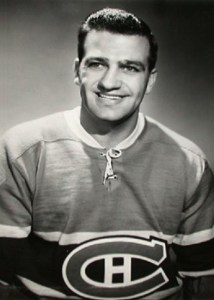 Boom Boom Geoffrion with the Canadiens