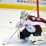 Peter Budaj during his time with the Colorado Avalanche