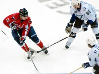 Backstrom and Stamkos Battle for the Puck (Clydeorama/Photoree)
