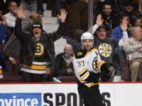 Patrice Bergeron was Boston's best player in the Eastern Conference quarterfinals. (Icon SMI)
