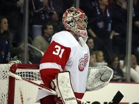 Detroit Red Wings goalie Joey MacDonald blanked the Blue Jackets (Dave Gainer/THW