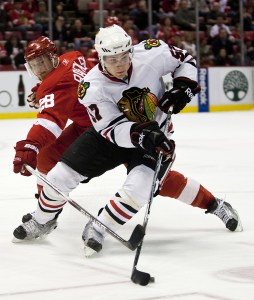 Ben Smith played his first full season with the Blackhawks last year