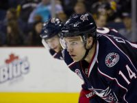 "Columbus Blue Jackets defenseman Grant ""Get Some"" Clitsome has been a welcome addition this season (Aaron Doster/THW)"