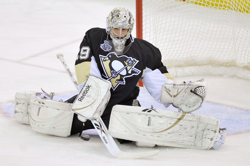 Marc-Andre Fleury is a Stanley Cup winner and was on the 2010 Canadian Olympic roster.  (Flickr/wstera)