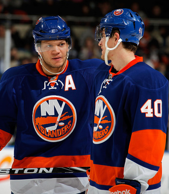 Kyle Okposo (left) and Michael Grabner recently inked long-term contracts with the Islanders.