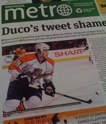 Mike Duco is front page news