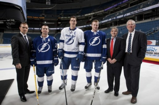 The Lightning in 2011-12...(Tampa Bay Lightning/Scott Audette)