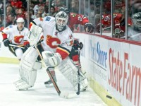 Miikka Kiprusoff is a very brave netminder. (Icon SMI)